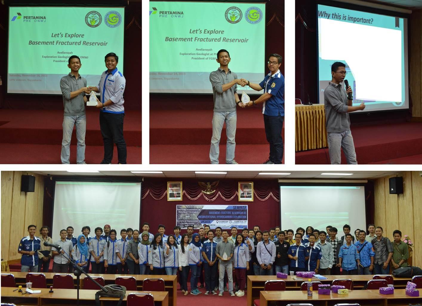 """Foto-foto kegiatan FGMi course tentang Fractured Basement Reservoir di UPN """"Veteran Yogyakarta"""